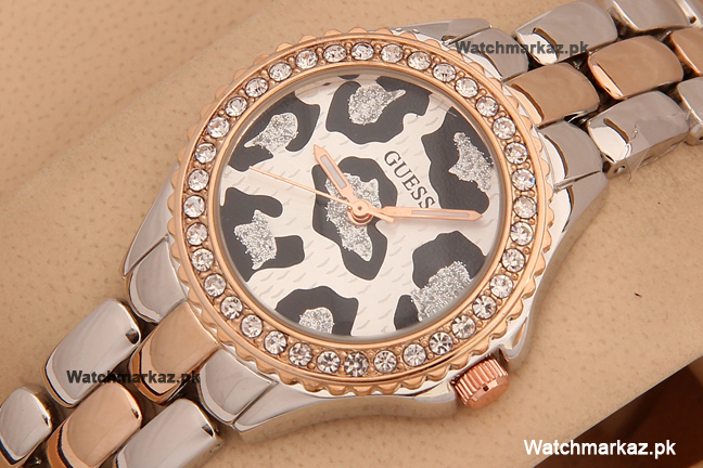 Guess Cheetah Two Tone Diamond