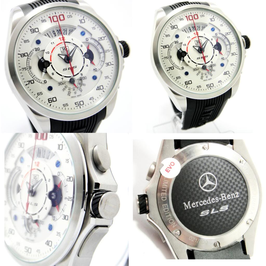 Expensive mens watches tag heuer sls for Tag heuer grand carrera mercedes benz sls limited edition price