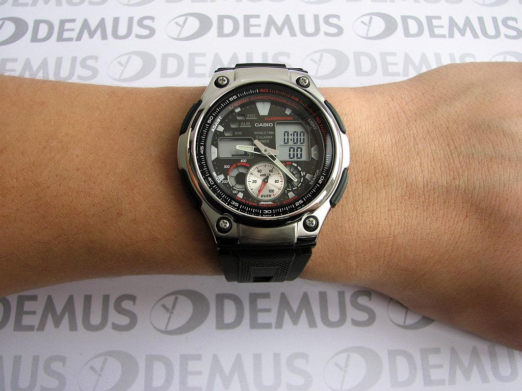 1da97903059  TimeMob  Relógio Casio anadigi Sport AQ-190W-1AVDF R 106