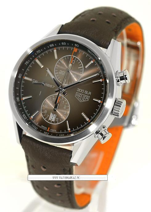 Tag Heuer 300 SLR Brown strap