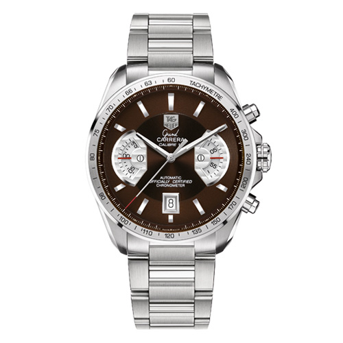 Tag Heuer Calibre 17 Steel Band Brown Dail