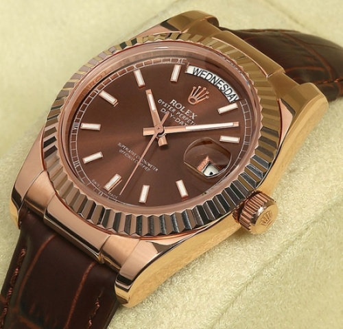 Rolex Oyster Perpetual Day Date Brown
