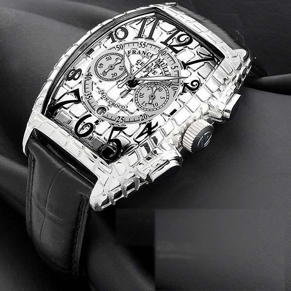 Franck Muller Gold Croco Chrono Watch